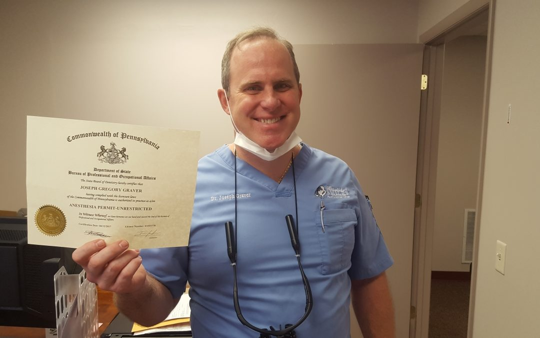 Dr. Graver Receives Anesthesia Certification