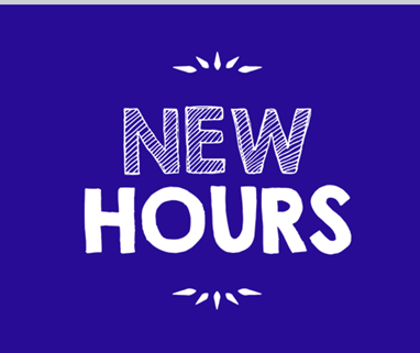 New Wednesday Hours Begin December 1, 2019